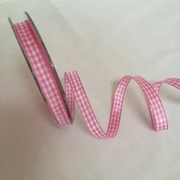 Vichy Karo rosa 10 mm 25 m