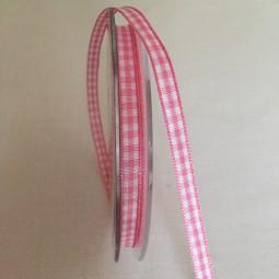 Vichy Karo rosa 6 mm 25 m