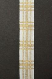 Emily Leinen natur gold 15 mm 20 mtr