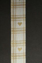 Goldherz creme gold 25 mm 20 m