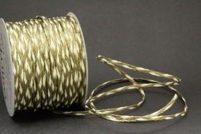Flechtkordel creme gold 3 mm 50 m