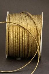 Flechtkordel gold 3 mm 50 m