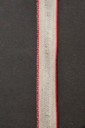Elke Leinenband natur mit rotem Rand 15 mm 20 m