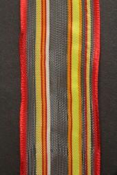 Timor gelb rot mit Drahtkante 40 mm 20 m