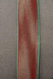 Georgien rot grün mit Drahtkante 25 mm 20 m