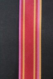 Keshia rot Streifen orange pink 25 mm 50 m
