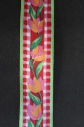 Kirby Blumenmotiv rot grün 25 mm 50 m