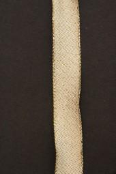 Mondsee creme gold mit Drahtkante 15 mm 25 m