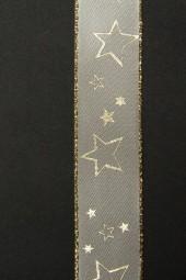 Galaxy beige Sterne gold 25 mm 25 m