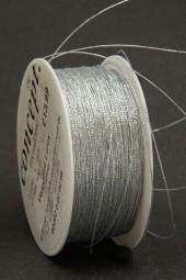Lurexschnur silber 1 mm 50 m