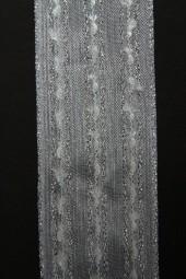 Spirit weiss silber mit Drahtkante 40 mm 20 m