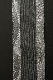 Manhattan silber mit Drahtkante 40 mm 25 m