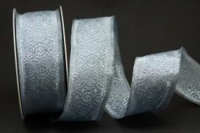 Major silber mit Drahtkante 40 mm 20 m