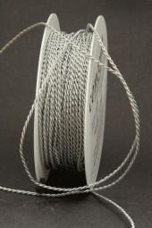 Kordel geflochen silber 2 mm 25 m
