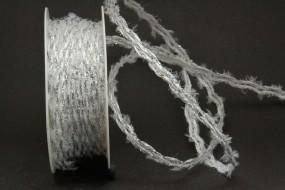 Liberia Girlande weiss silber 8 mm 20 m