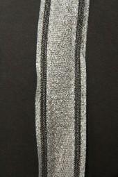 Peppo silbermit Drahtkante 25 mm 15 m