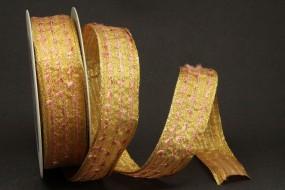Spirit gelbgold gold mit Drahtkante 25 mm 20 m