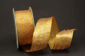 Spirit gelbgold gold mit Drahtkante 40 mm 20 m