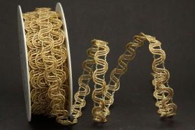 Galina Geflecht beige gold 10 mm 10 m