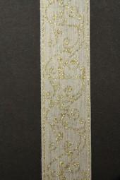 Dana Leinenband beige gold 25 mm 20 m