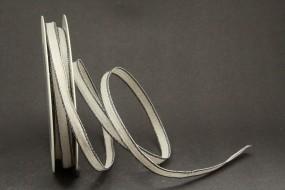 Chrissy Leinenband beige mit schwarzem Rand 10 mm 20 m