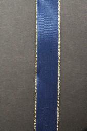London blau mit Goldrand 15 mm 25 m