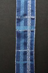 Montreux blau silber mit Drahtkante 25 mm 20 m