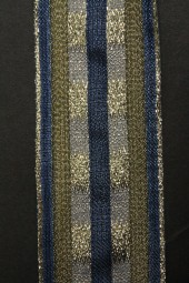Fashio dunkelblau gold mit Dahtkante 40 mm 20 m