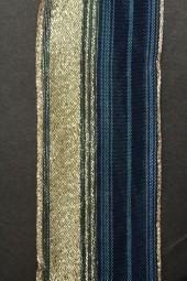 Meteor dunkelblau gold mit Drahtkante 40 mm 20 m