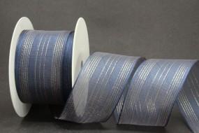 Kronach blau gold mit Drahtkante 50 mm 20 m