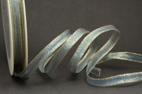 Merle blau gold mit Drahtkante 10 mm 50 m
