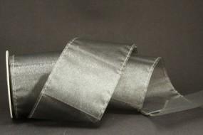 Organza Ribbon Bag silber 70 mm 5 m