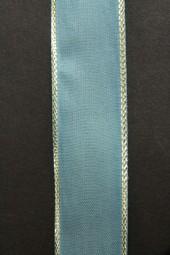London blau mit Goldrand 25 mm 15m