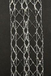 Belize Gitterband silber 40 mm 20 m