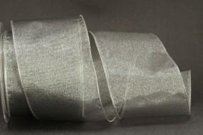 Organza silber 70 mm 10 m