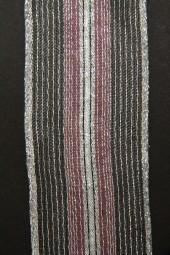 Propan rose silber mit Drahtkante 40 mm 15 m