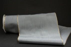 Memphis Tischband weiss schwarz mit Goldrand 150 mm 3 m