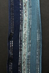 Impalla blau silber mit Drahtkante 40 mm 20 m