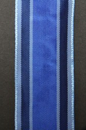 Kira blau mit Drahtkante 40 mm 20 m