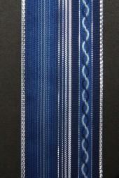 Karry blau mit Silberrand 38 mm 20 m