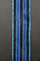 Cortina blau schwarz mit Drahtkante 25 mm 20 m