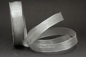 Silber Art 002 mit Drahtkante 15 mm 20 m