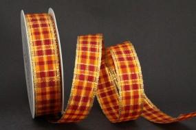 Burlington orange rot mit Goldrand 25 mm 25 m