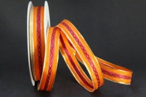 Karry orange mit Goldrand 15 mm 20 m