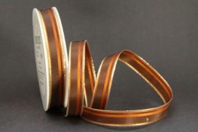Romance braun mit Goldrand 15 mm 25 m