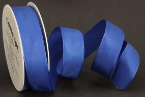 Uniband Basic blau mit Draht 25 mm 25 m