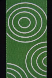 Crazy grün Kreise weiss 40 mm 25 m