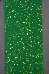 Genua Velour dunkelgrün mit Goldglitter 40 mm 20 m