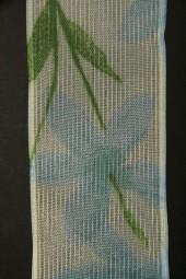 Silva Blumenmotiv blau grün 40 mm 20 m