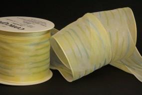 Elektra creme gelb Blumenmotiv 70 mm 15 m